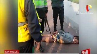 Capturan a ladrón que se vistió de mujer para robar productos de farmacia en San Miguel