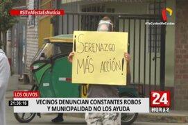 Vecinos de Los Olivos y SMP golpeados por la delincuencia