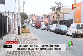 Vecinos de La Campiña de Chorrillos piden enrejar calle por constantes robos