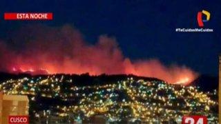 Cusco: Reportan dantesco incendio forestal en el Parque Arqueológico de Sacsayhuamán