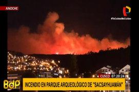 Cusco: incendio forestal se registró en parque arqueológico de Sacsayhuamán