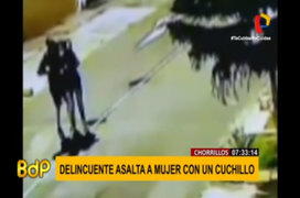 Chorrillos: mujer fue asaltada por delincuente con un arma blanca