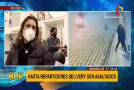 Chorrillos: vecinos temen salir por ola de asaltos