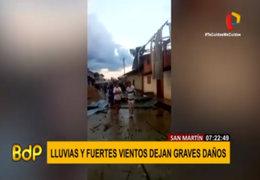 San Martín: vientos y lluvias fuertes causaron daños en más de 80 viviendas