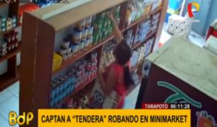 Tarapoto: captan robo de 'tenderos' en minimarket