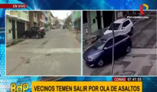 Comas: vecinos temen salir de sus casas en Av. Ignacio Prado