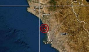 Sismo de magnitud 3.6 se registró esta tarde en Lima