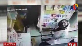 La Victoria: ladrón activó alarma contra robos tras digitar mal clave de bóveda durante asalto a farmacia