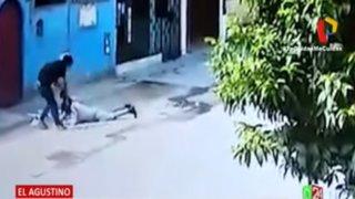 El Agustino: Mujer fue arrastrada por delincuente que le robó la cartera