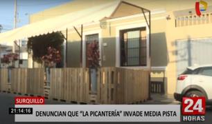 """Surquillo: vecinos denuncian que restaurante """"La Picantería"""" invade la vía publica"""