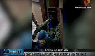SMP: Maniatan y secuestran a anciano de 92 años para robarle más de 68 mil soles
