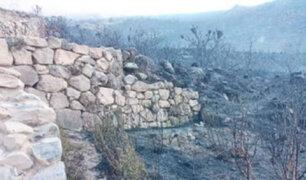 Cusco: confirman que incendio forestal  afectó parque arqueológico de Tipón