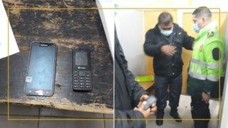 Cajamarca: incautan dos celulares a efectivo policial en penal