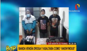 SMP: capturan a banda 'Los Anonymous' que asaltaba en tres distritos