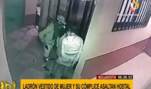 Callao: delincuente vestido de mujer asaltó hostal en Bellavista