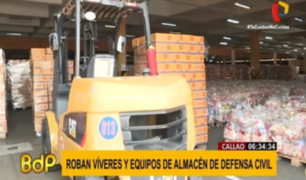 Callao: roban víveres de almacén de Defensa Civil