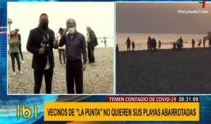 La Punta: alcalde pide cerrar playas ante peligro de contagio de COVID-19