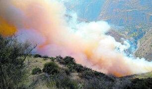 Huancavelica: mujer muere intentado apagar incendio forestal que consumía sus sembríos