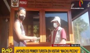 Cusco: japonés fue primer turista extranjero en visitar Machu Picchu tras cuarentena