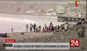 Trujillo: detienen a veraneantes sin mascarillas en playa Huanchaco
