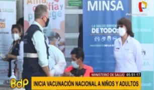 Jorge Muñoz y Pilar Mazzetti dieron inicio a Jornada Nacional de Vacunación