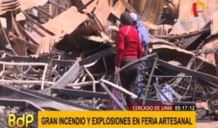 Cercado de Lima: artesanos de galería incendiada piden ayuda a Municipalidad de Lima
