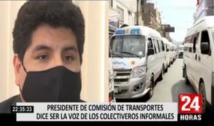 Presidente de la Comisión de Transporte dice ser la voz de los colectiveros informales