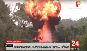 Minería ilegal: destruyen maquinaria pesada para extraer oro en Madre de Dios