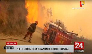 Incendio forestal se sale de control y deja dos muertos y 9 heridos en Abancay