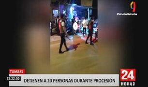 Tumbes: peregrinos del Señor Cautivo se enfrentan a la policía por salir en procesión