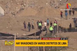 SJM: ciudadanos invaden terrenos donde se ubica torres de alta tensión