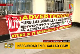 Callao: vecinos se unen para combatir la delincuencia