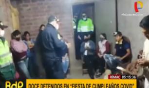 Rímac: 12 detenidos tras participar en 'fiesta COVID'