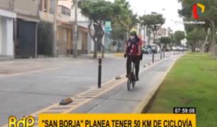 San Borja busca interconectarse con distritos vecinos mediante ciclovías