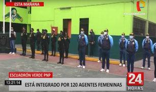 Escuadrón Verde de la PNP incorpora 120 agentes femeninas