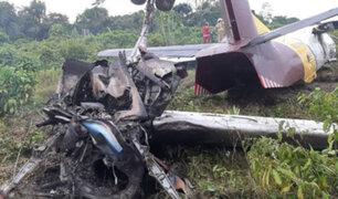 Iquitos: reportan 4 heridos tras aterrizaje forzoso de avión de carga