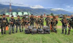 FF.AA y Policía Nacional incautan 400 kg de droga y armamento en el Vraem