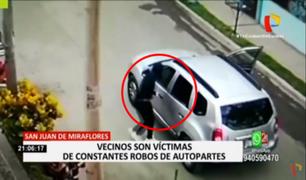 SJM: vecinos son víctimas de constantes robos de autopartes