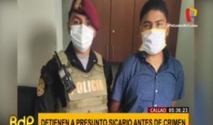 Callao: detienen a presunto sicario justo antes de disparar a su víctima