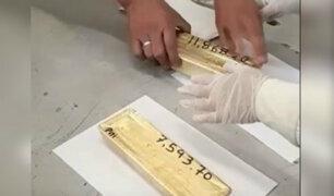 Callao: incautan más de 57 kilos de oro que tenía como destino Estados Unidos