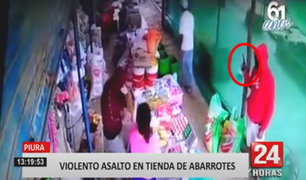 Piura: ladrones se llevaron celulares y las ganancias del día de una tienda de abarrotes
