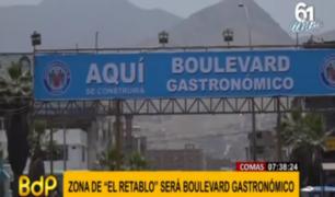 Comas: vecinos dan la bienvenida a nueva imagen del boulevard El Retablo