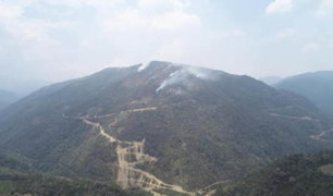 Puno: zonas inaccesibles dificultan lucha contra incendios forestales