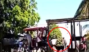 Iquitos: ladrones roban S/ 29 000 a pareja en medio de disparos