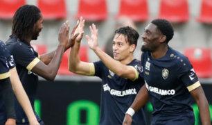 Cristian Benavente anotó un golazo en su partido debut con Royal Antwerp de Bélgica