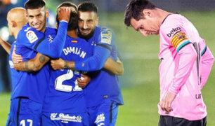 Barcelona cayó ante Getafe y perdió su invicto en La Liga de España