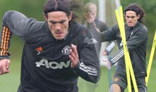 Edinson Cavani regresó a los entrenamientos con el Manchester United