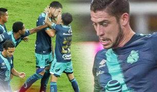 Santiago Ormeño anota penal en derrota del Puebla