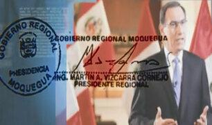 ¡Exclusivo! Firma del presidente Vizcarra lo contradice