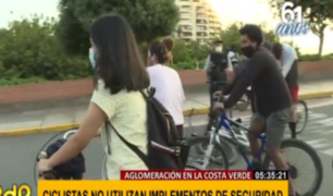 Accidentes y aglomeraciones de ciclistas en Bajada de Armendáriz y La Herradura